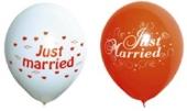 """Luftballons """"Just Married"""" 100  Stück (LRMM 100 E 52 401)"""