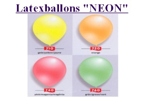 Latexballons Neonfarben - Latexballons Neonfarben