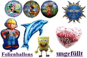 Folienballons (ungefüllt) - Folienballons (ungefüllt)