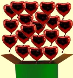 Herzballons aus Folie, Folienballons in Herzform zur Hochzeit steigen lassen