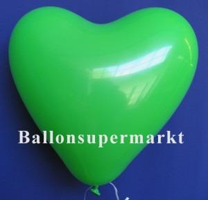Luftballons Herzen Grün