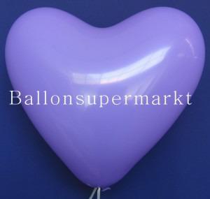 Luftballons Herzen Lila