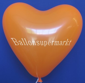 Luftballons Herzen Orange
