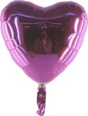 Herzballon pink (heliumgefüllt) (FHGE2)