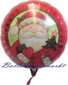 Weihnachts-Ballon der Nikolaus kommt, Luftballons zu Weihnachten mit Helium (FHGE-Luftballon-der-Nikolaus-kommt-WB-mH-01)