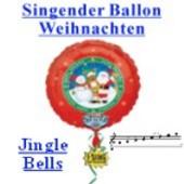Singende Ballons zu Weihnachten. Fröhliche Weihnachten mit dem Weihnachtslied Jingle Bells
