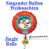 Singender Weihnachtsballon, Jingle Bells, Luftballon mit Musikmodul (FHGE SFB 1 DD 12955 05)