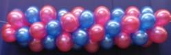 Luftballongirlande Selbstbauset 25 cm Metallicfarben (Luftballongirlande 1)