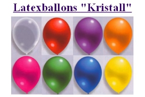 Latexballons 30cm Kristall - Latexballons 30 cm Kristall