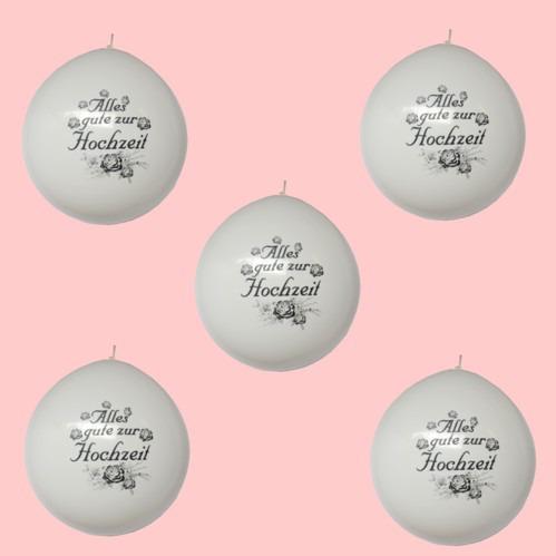 Hochzeit Dekoration mitz weißen Riesenballons