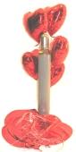 Maxi-Set 4A, 100 Herzballons aus Folie (Farbauswahl) mit Helium (BGS1MX8)