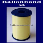 Ballonband, Luftballonbänder 1 Rolle 500 m, Gelb (Ballonband-Gelb-Rolle-Bb-Glb-01)