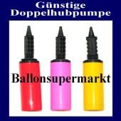 Günstige und praktische Doppelweg-Ballonpumpe, geeignet für alle Arten von Luftballons