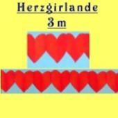 Herzgirlande / Rot / 30cm (FD 24525)