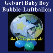 Geburt-Baby-Boy, Bubble Luftballon (mit Helium) (FHGE-KAE 69728-22)
