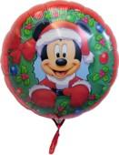 Micky Maus Weihnachtsballon, Luftballon mit Helium zu Weihnachten (FHGE-Micky-Maus-Weihnachtsballon-08301)