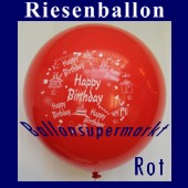 Riesenballon-Geburtstag-Happy-Birthday-Rot-(Helium) (Riesenballon-Geburtstag-Happy-Birthday-GF-132-AH-Rot)