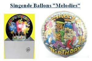 Singende Ballons mit Helium