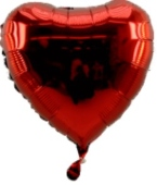 Herzballon Rot (heliumgefüllt) (FHGE4g)