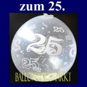25. Jubiläum, Geschenkballons, Stuffer, Silberhochzeit (Geschenkballons 25 Silberhochzeit 01)