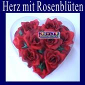 Hochzeitsdeko-Herz mit Rosenblüten (Hochzeitsdeko-Rosen-25024)