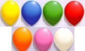 Luftballons 25cm Ø / Bunt gemischt 10 Stück (LRSt B25/10)