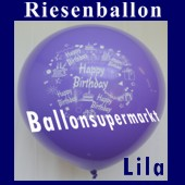Riesenballon-Geburtstag-Happy-Birthday-Lila-(Helium) (Riesenballon-Geburtstag-Happy-Birthday-GF-132-AH-Lila)