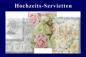 Hochzeitsdeko-Servietten - Hochzeitsdeko-Servietten