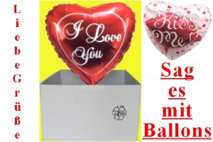 "Folienballons ""I Love You"" - Folienballons ""I Love You"""