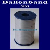 Ballonband, Luftballonbänder 1 Rolle 500 m, Silber (Ballonband-Silber-Rolle-Bb-Silb-01)