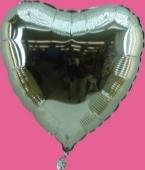 Herzballon Silber (heliumgefüllt) (FHGE5g)