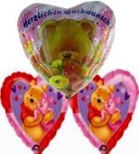Kindergeburtstag mit Pooh (Herz) (FHGE KK MPB01)