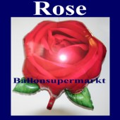 Luftballon Rose, Folienballon mit Ballongas (FHGE-Luftballon-Rose-D-05983)