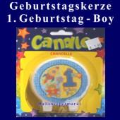 Geburtstagskerze 1. Geburtstag, Boy-Junge (Geburtstagskerze-1.-Geburtstag-Boy-171016)