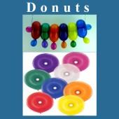 Donuts, Ringballons 10 Stück, sortiert (LDRing Bas 09040 /10)