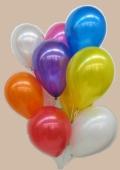 Luftballons 28-30 cm Ø Metallic 100 Stück (LRMEF BrE Luftballons 28-30/100)