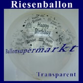 Riesenballon-Geburtstag-Happy-Birthday-Transparent-(Helium) (Riesenballon-Geburtstag-Happy-Birthday-GF-132-AH-Transparent)