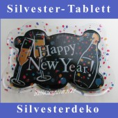 Tischdekoration-Silvester, Tablett Happy New Year (Silvesterdeko 03 438864)