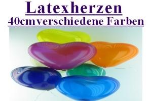 Latexherzen / 40cm verschiedene Farben - Latexherzen / 40cm verschiedene Farben