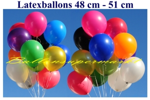 Luftballons Latex 48cm - Luftballons Latex 48cm