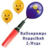 Einfach 2-Wege-Doppelhub-Ballonpumpe für Luftballons