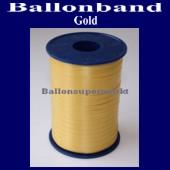 Ballonband, Luftballonbänder 1 Rolle 500 m, Gold (Ballonband-Gold-Rolle-Bb-Gld-01)