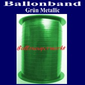 Ballonband, Luftballonbänder 1 Rolle 400 m, Grün Metallic (Ballonband-Gruen-Metallic-Rolle-Bb-Gru-M-01)