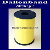 Ballonband, Luftballonbänder 1 Rolle 500 m, Zitronengelb (Ballonband-Zitronengelb-Rolle-Bb-ZitrG-01)