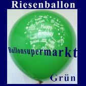 Riesenballon-Geburtstag-Happy-Birthday-Gr�n-(Helium) (Riesenballon-Geburtstag-Happy-Birthday-GF-132-AH-Gruen)