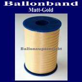 Ballonband, Luftballonbänder 1 Rolle 500 m, Matt-Gold (Ballonband-Mattgold-Rolle-Bb-MGld-01)