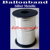 Ballonband, Luftballonbänder 1 Rolle 400 m, Silber Metallic (Ballonband-Silber-Metallic-Rolle-Bb-Sil-M-01)