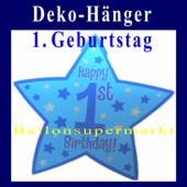 Geburtstagsstern-Deko-H�nger-1.Geburtstag (Dekoration-1.-Geburtstag-Stern-199633)