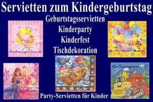 Kindergeburtstag-Servietten - Kindergeburtstag-Servietten