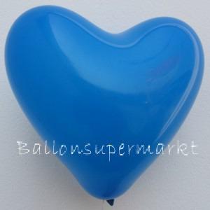 Luftballons Herzen Blau